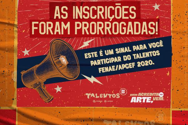 Prorrogação inscrições talentos_600x400px.jpg