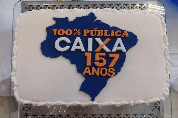 Bolo Caixa 157 anos